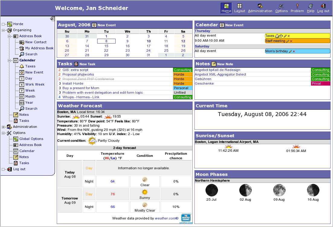 Horde Webmail Portail Webmail
