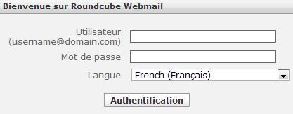 Connexion à votre compte Webmail Gandi Net