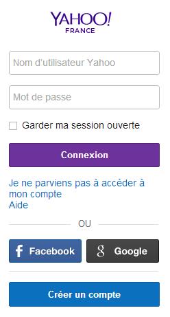 Connectez vous à votre compte Yahoo
