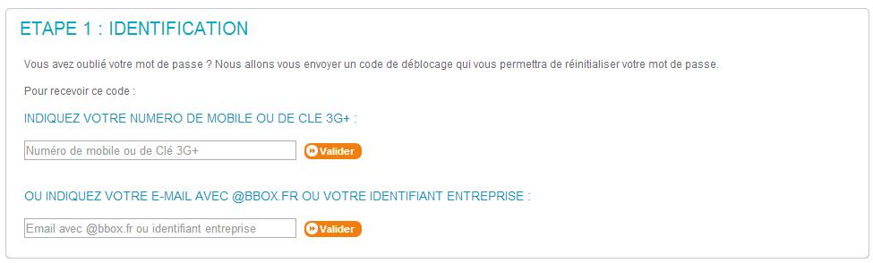 Réinitialisez votre mot de passe Bouygues Telecom